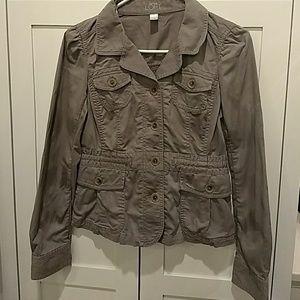 ANN Taylor Loft Grey Military Jacket